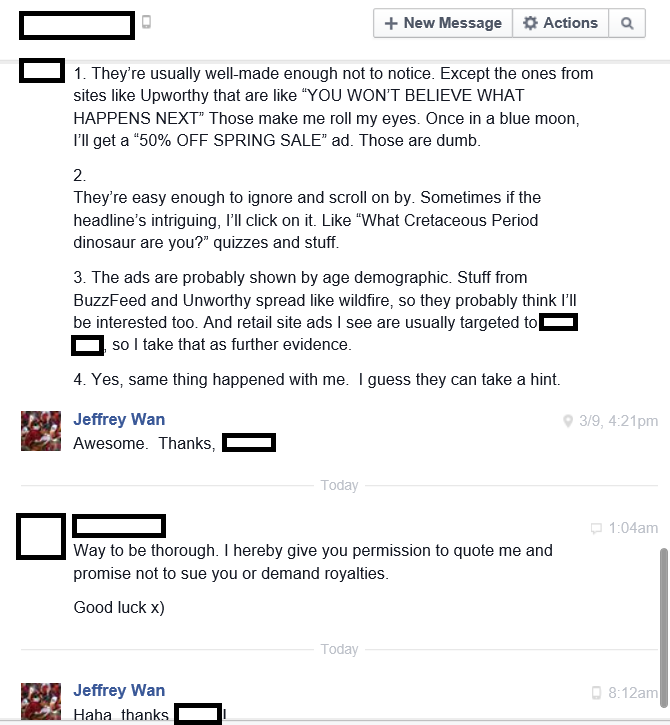 A responder who noted Buzzfeed and Upworthy.